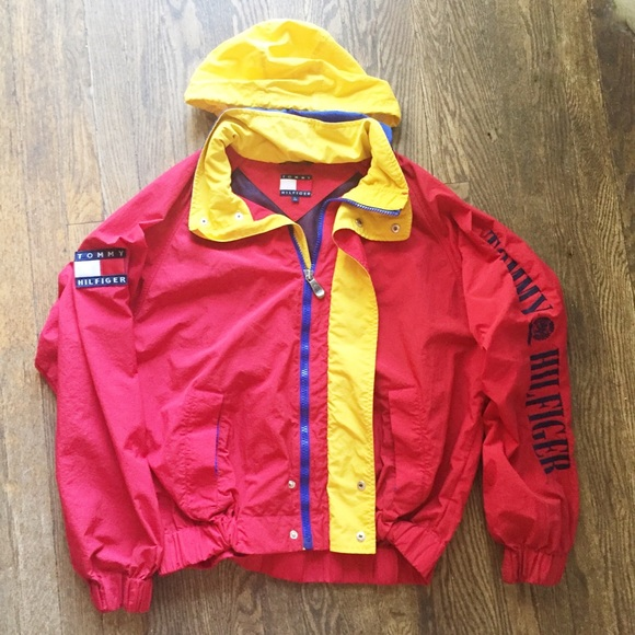 Turtleneck Tommy Hilfiger-vintage 90's Tommy Hilfiger Pullover     No Lowballs Yellow Red